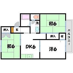 セジュールYA[2階]の間取り
