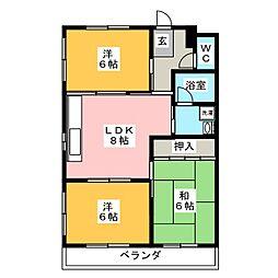 シティコーポ長坂[3階]の間取り