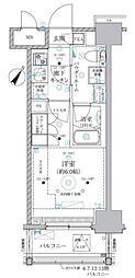 JR東海道本線 川崎駅 徒歩8分の賃貸マンション 10階1Kの間取り