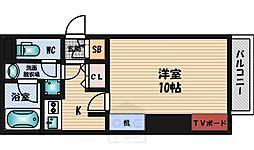 アスール江坂[6階]の間取り