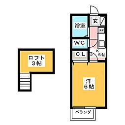 プランドールYAMADA[2階]の間取り