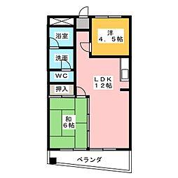 ソレットベルメゾン[2階]の間取り
