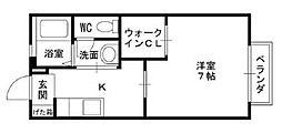 アネスト香枦園[202号室]の間取り