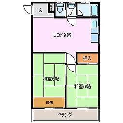 三重県四日市市三栄町の賃貸マンションの間取り