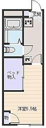 レオパレスプロヴァンス[2階]の間取り