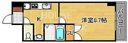 マインズ・コム四条大宮[610号室号室]の間取り