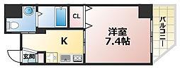 シティフラット六甲道[6階]の間取り