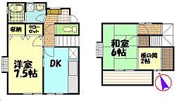[テラスハウス] 神奈川県藤沢市羽鳥5丁目 の賃貸【/】の間取り