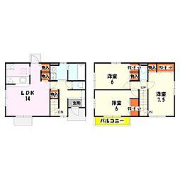 [タウンハウス] 東京都足立区六木3丁目 の賃貸【/】の間取り