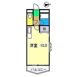 ピュア高須新町[3階]の間取り