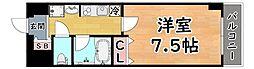 阪急神戸本線 王子公園駅 徒歩1分の賃貸マンション 6階1Kの間取り