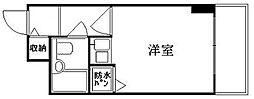 京都府京都市中京区桝屋町の賃貸マンションの間取り