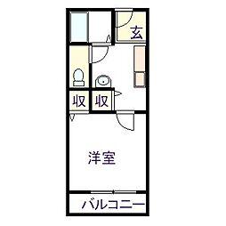 ディアスカワサキ[1階]の間取り