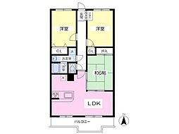 ソロン名島[11階]の間取り