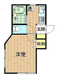 神奈川県川崎市中原区今井南町の賃貸アパートの間取り