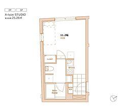 エスセナーリオ白金 3階ワンルームの間取り