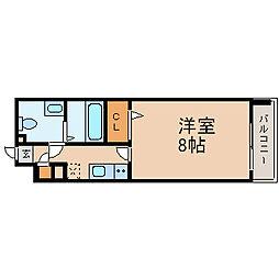 プレサンスmiu新栄(プレサンスミュー新栄)[2階]の間取り