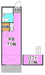 スペースコート秋津[2階]の間取り