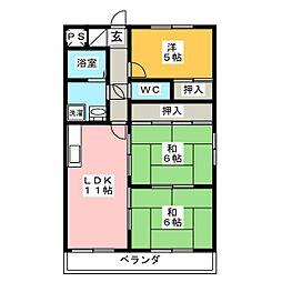 レジデンス東刈谷III[4階]の間取り