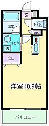 Osaka Metro御堂筋線 長居駅 徒歩2分の賃貸マンション 4階1Kの間取り