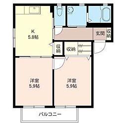 Soleado[2階]の間取り