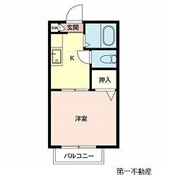 サンハイツ ふじ[1階]の間取り
