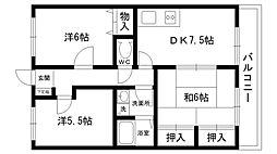 倉田メゾン[202号室]の間取り