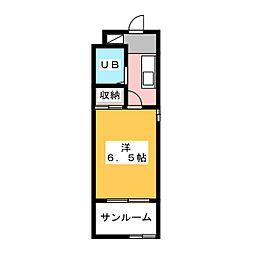 上島ロイドアパートB[2階]の間取り