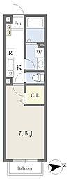 東葉高速鉄道 船橋日大前駅 徒歩9分の賃貸アパート 2階1Kの間取り