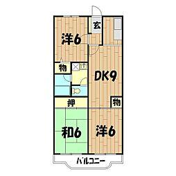 クレール二俣川(本宿町)[1階]の間取り