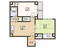 StoRK Apartment 南堀江[6階]の間取り