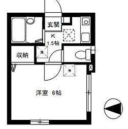 東京都杉並区桃井2丁目の賃貸アパートの間取り