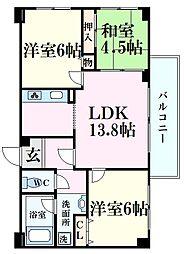 ブリックブロック 1階3LDKの間取り