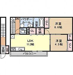 仮称)山科区西野小柳町ハイツ[201号室号室]の間取り