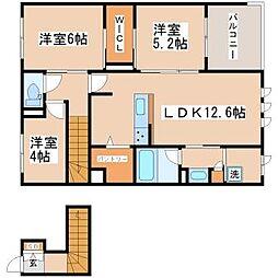 シャーメゾンFUKU 2階3LDKの間取り