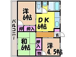 愛媛県松山市吉藤3丁目の賃貸マンションの間取り