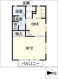 フレグランスChateau B[2階]の間取り