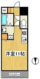 ヒルズ六ツ門[7階]の間取り