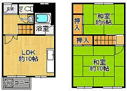 兵庫県尼崎市今福1丁目の賃貸マンションの間取り