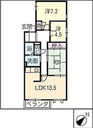 レジデンスKOBAYASHI[1階]の間取り