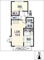 グリンピア雁宿[2階]の間取り