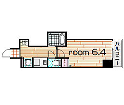 プロシード大阪梅田ポーション[8階]の間取り