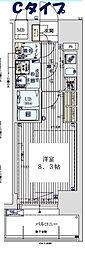 Osaka Metro千日前線 阿波座駅 徒歩5分の賃貸マンション 3階1Kの間取り
