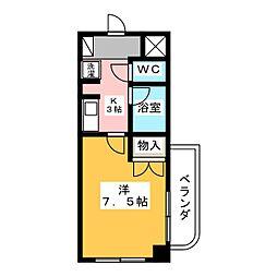 エクセル犬山[4階]の間取り