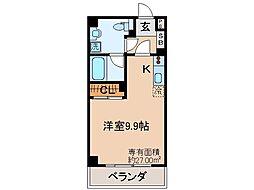 JR奈良線 六地蔵駅 徒歩1分の賃貸マンション 1階ワンルームの間取り