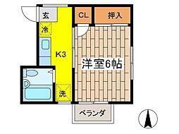 萩原ハイツ[2階]の間取り