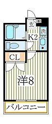 フルール南青山[3階]の間取り