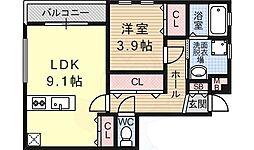 モンテ・リブロ 4階1LDKの間取り