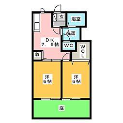 スクエア21[1階]の間取り