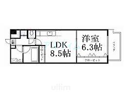 京阪本線 清水五条駅 徒歩5分の賃貸マンション 1階1LDKの間取り